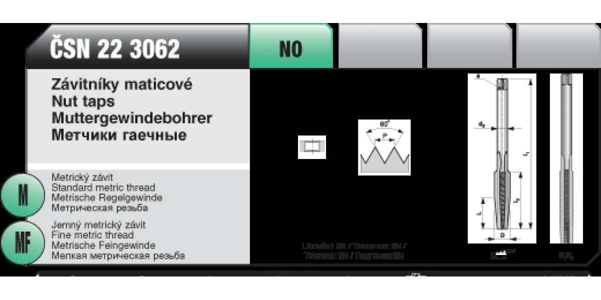Závitníky maticové [ M 5 x 0,8 /NO / ČSN 22 3062 ]