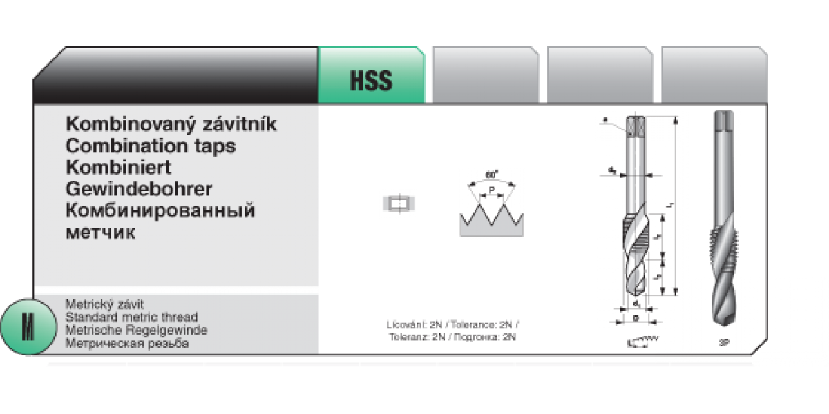 Kombinovaný závitník [ M 4 x 0,7 / HSS ]