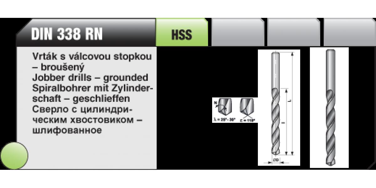 Vrták s válcovou stopkou - broušený [ Ø 4 / HSS / DIN 338 RN ]