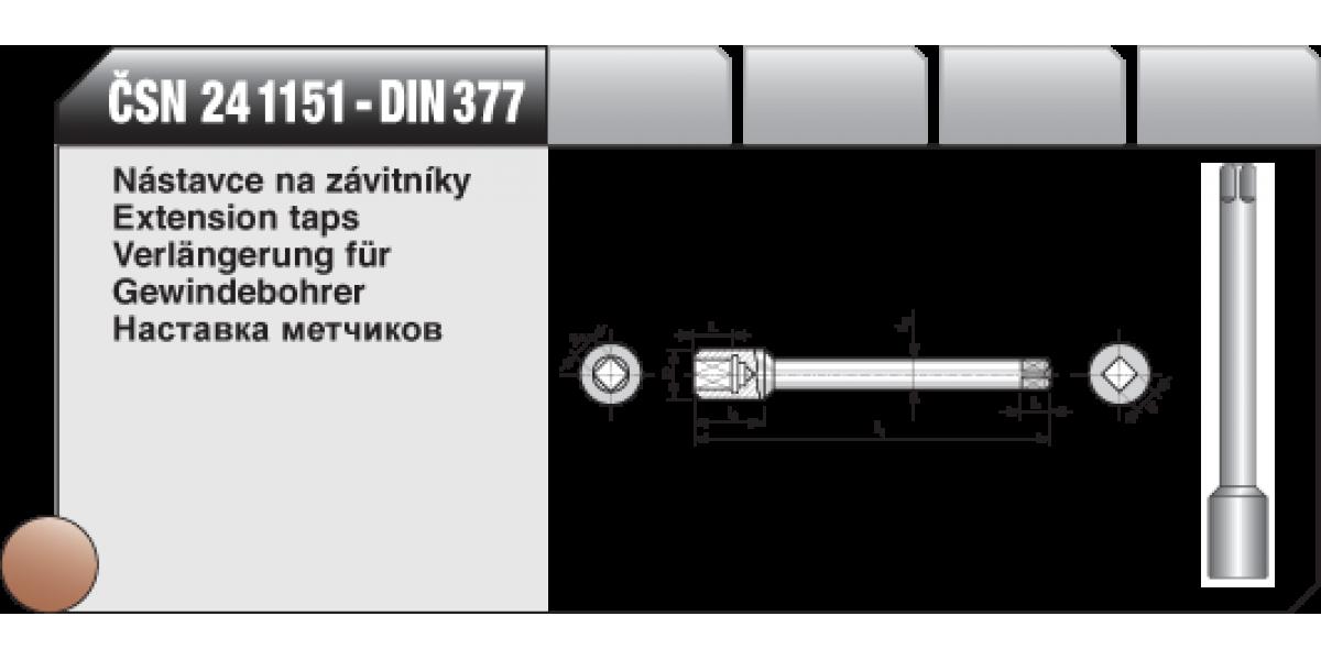 Nástavce na závitníky [ ČSN 24 1151 ]
