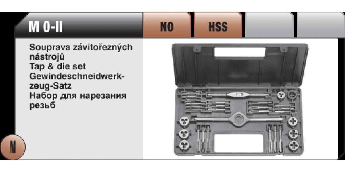 Soupravy závitořezných nástrojů MAT-1 NO [ M2-M8 maticové závitníky ]