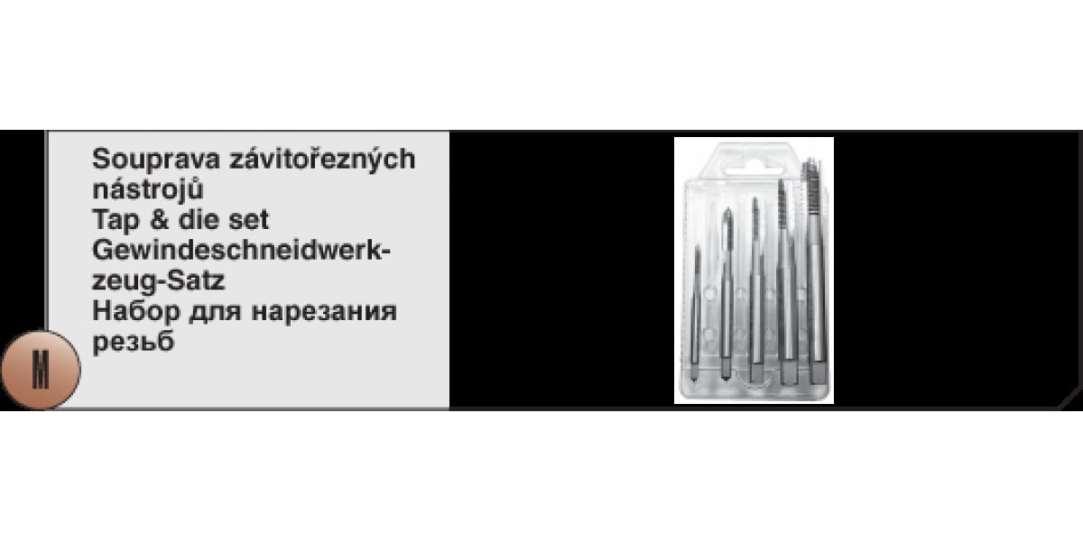 Soupravy závitořezných nástrojů Typ B - 1 HSS [ M3 - M8 ] s lamačem