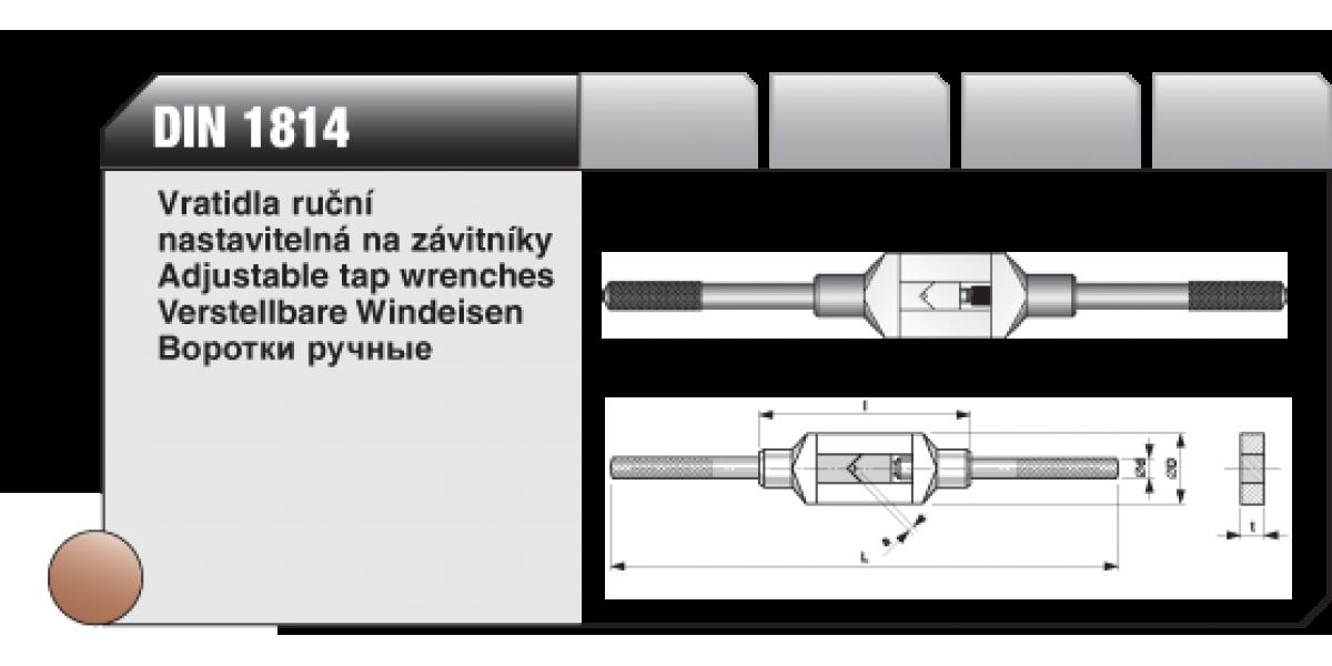 Vratidla ruční nastavitelná na závitníky [ DIN 1814 ] č.3 / 4,9-12mm