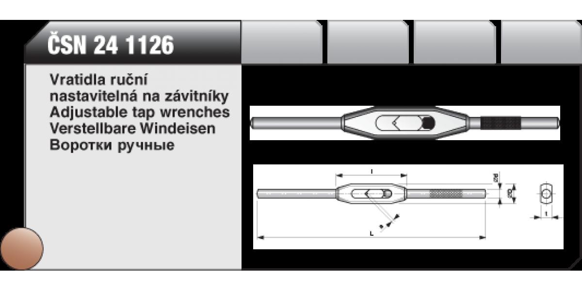 Vratidla ruční nastavitelná na závitníky [ ČSN 24 1126 ] č.2 / 2,5-7,1mm
